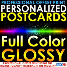 1000 PERSONALIZED CUSTOM PRINTED 3X5 POSTCARDS FULL COLOR UV GLOSS PROFESSIONAL