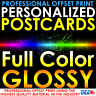 5000 PERSONALIZED CUSTOM PRINTED 3X5 POSTCARDS FULL COLOR UV GLOSS PROFESSIONAL