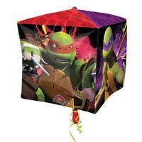 38cm Teenage Mutant Ninja Turtles TMNT Children's Party CUBE Shape Foil Balloon