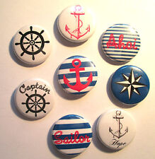 Seemann Button / Badge / Pin Anstecker Anker Sailor Buttons Rock'n'Roll Punkrock