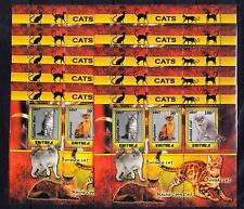 10x Animals Cats Egyptian Mau Abyssinian Burmese Private Local issue M12 not Mnh