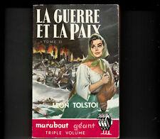 Marabout géant 41 La guerre et la paix Léon Tolstoi  tome 2