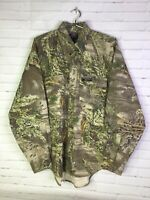 RealTree Pro Series Whitewater Long Sleeve Button Hunting Camo Shirt Mens Large