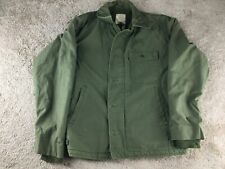Vintage United States Coast Guard Jacket Green A-2 Fur Lined STENCIL USCG Deck