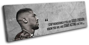 Boxing Anthony Joshua Quote Sports SINGLE CANVAS WALL ART Picture Print