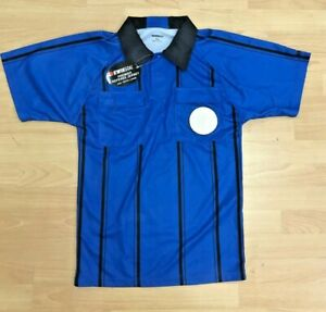 Soccer Referee jersey, Brand New with Tags, Blue Short Sleeve size Youth Large