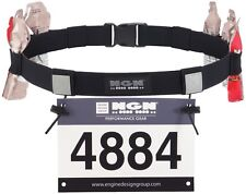 Ngn Sport - Race Number Belt for Triathlon, Marathon, Ultra Running 10 Gel Loops