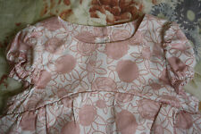 Baby dior rose floral coton chemisier 6 mois