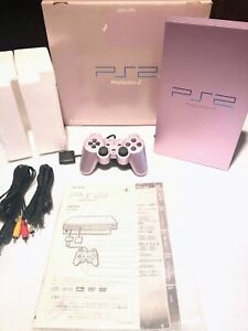 ★Sony PlayStation 2 PS2 SCPH-50000 SA Sakura Pink Boxed tested working★ Japan ★