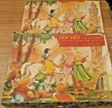 SNOW WHITE & THE SEVEN DWARFS Vintage Wooden Jigsaw Puzzle by WILLIAMS ELLIS