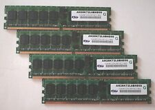 LOT of 4 ATP AH28K72L8BHE6S 4GB (4x1GB) 1024MB DDR2 667Mhz ECC DIMM 240-pin RAM