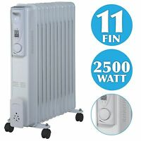 2.5KW ELECTRIC OIL FILLED RADIATOR PORTABLE ELECTRIC HEATER THERMOSTAT CONTROL