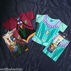 Frozen Girls Cotton T-Shirt Anna Elsa Kids Tee Shirt Top Girl Dress up Fancy