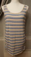 New Look Women size 14 Multicoloured Striped Tank Top <NK384