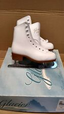 Glacier 210 Full Leather Size 12y Girls White Figure Ice Skate (Made By Jackson)