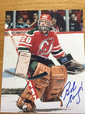 New Jersey Devils Bob Sauve signed 8x10 W/COA pose 1