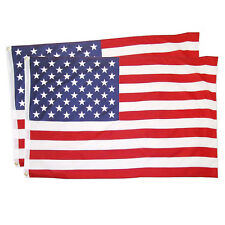 2pcs 2.5'x4' Polyester Us Flag Usa American Stars Stripes United States Grommets
