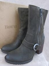 BORN D08229 Camryn Green Herb Distressed Mid Calf Boots Shoes US 9 M EU 40.5 NWB