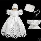 New Baby Girl Toddler Baptism Christening Formal Dress Size 01234 (0-30M) White