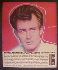 1986 James Dean~Hollywood Movie Star Maxell VHS Tapes Last Long as The Legend Ad