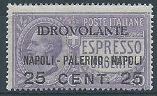 1917 REGNO POSTA AEREA NAPOLI PALERMO MNH ** - RR3272