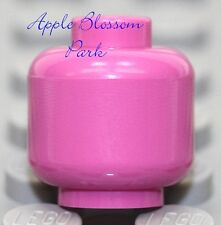 NEW Lego Dark PINK MINIFIGURE HEAD Plain/Blank Minifig Head Girl Friend/Belville