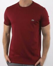 Lacoste man Crew neck Regular Fit 100% cotton size Large Burgundy