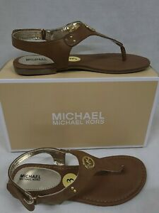 Michael Kors Girls' Marcella Sandals Cognac Gold  Size 3 Youth