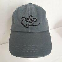 Embroidered Led Zeppelin Zoso Logo Cap NEW Original Blue-Gray Denim Hat