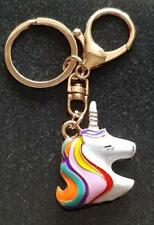 unicornio Bolso KEY CHARM NUEVO Multicolor Con Clip Anillo Stock Limitado