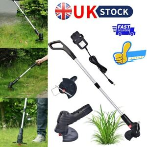 Electric Rechargeable Cordless Garden Grass Trimmer Weed Strimmer Cutter UK Plug