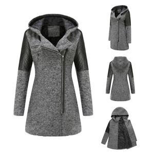Women Ladies Winter Hooded Coat Outdoor Outwear Casual Overcoat Warm Long Jacket