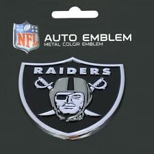 Oakland Raiders Heavy Duty Metal 3-D Color Auto Emblem
