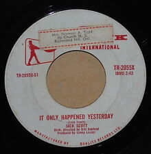 Jack Scott It Only Happened Yesterday /Cool Water 1960 Rockabilly 45 on Top Rank