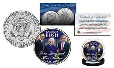 BARBARA BUSH 1925-2018 First Lady & First Mother JFK Kennedy Half Dollar US Coin