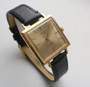 Poljot De Luxe 2209 Gold Plated AU20 Slim Elegant Classic Soviet Watch 1960s