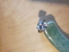 CUBIC ZIRCONIA  RING,SIZE 7, RHODIUM & GOLD PLATED