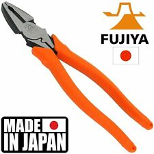 Fujiya Electricians Pliers High Leverage Heavy Duty 225mm Made in Japan