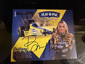 Brittany Force  NHRA signed 2021 hero card autograph