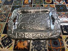Large Arthur Court Rabbit Serving Tray Detailed & Beautiful