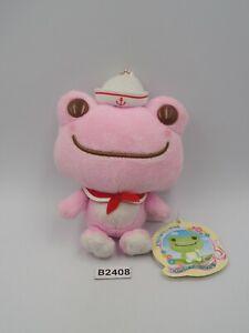"Pickles The Frog Pink B2408 Nakajima Mascot Keychain Sk Japan Plush 5"" TAG Doll"
