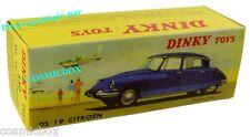 CITROEN DS 19 bordeaux voiture en métal DINKY TOYS auto 530 Atlas les ouvrants