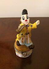 Trinket Box, clown playing a musical instrument