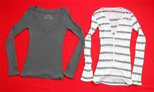 Pair of 2 ~ LUXURY APPAREL & OLD NAVY ~ Long Sleeve Tops ~ Size Juniors SMALL