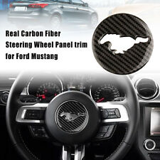 Carbon Fiber Interior Steering Wheel Decor Trim Sticker For Ford Mustang 15-17