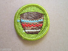 Basketry Merit Badge BSA Woven Cloth Patch Badge Boy Scouts Scouting
