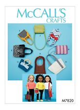 """McCall's Crafts Pattern M7820 Handbags For 18"""" Dolls"""