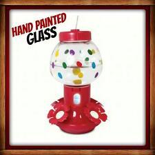 New listing Pinebush 20 Oz. Glass Hummingbird Feeder Cute Bubblegum Machine Free Usa Ship