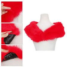 JNTworld Women's Fashion Girls' Trendy Winter Scarf Wrap Red Fur Collar Shawl