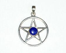 Sterling silver Lapis Lazuli Pentagram Pentacle pendant from Crystals shop 4.9g